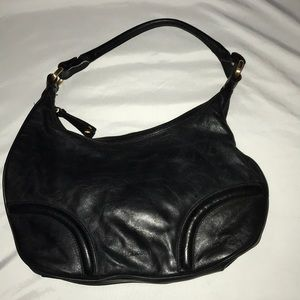 BCBGirls Black Leather Strap Purse